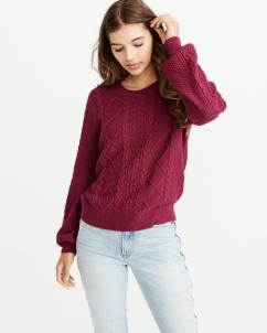 Cable Knit Puff Sleeve